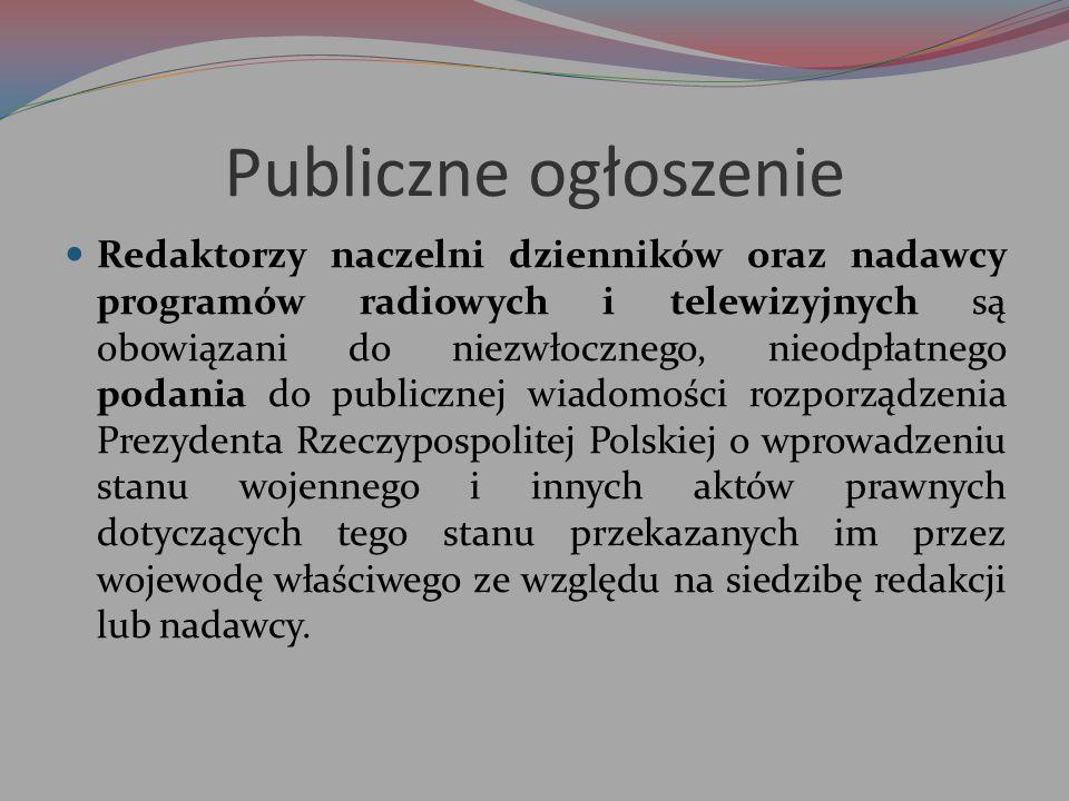 Publiczne ogłoszenie
