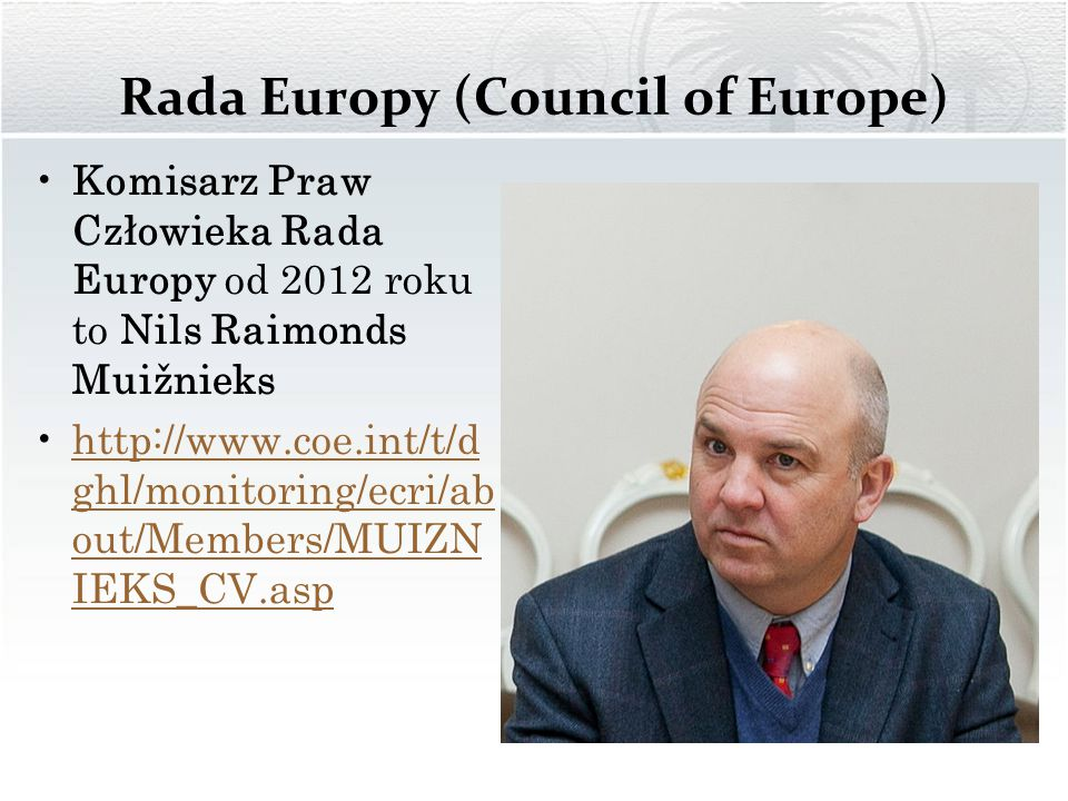 Rada Europy (Council of Europe)
