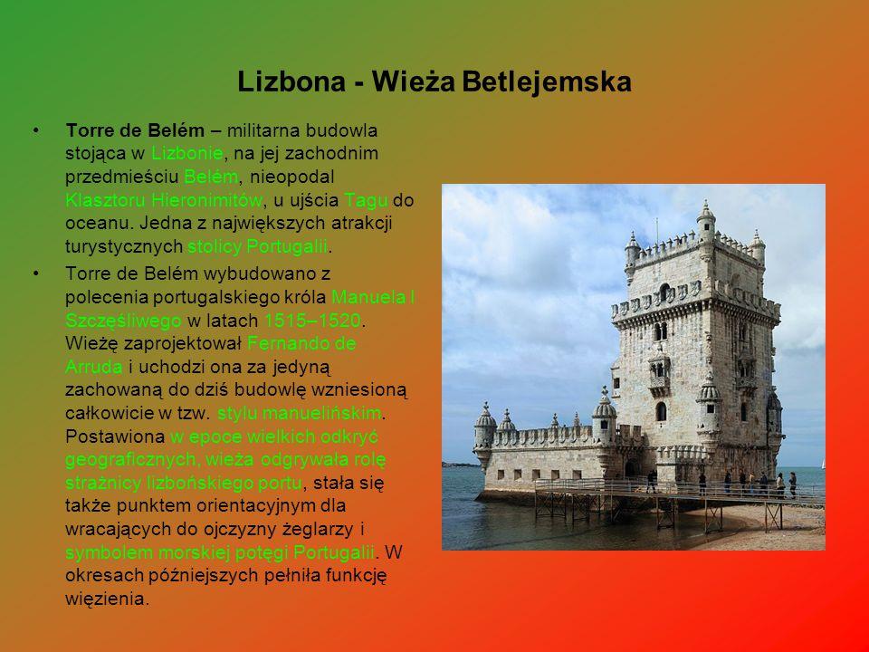 Lizbona - Wieża Betlejemska