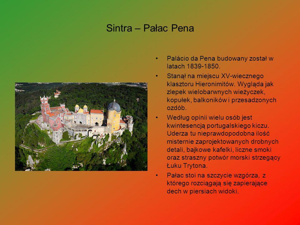 Sintra – Pałac Pena Palácio da Pena budowany został w latach 1839-1850.