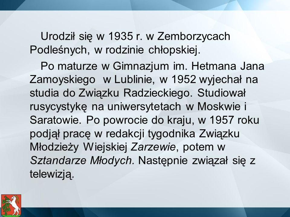 Urodził się w 1935 r. w Zemborzycach Podleśnych, w rodzinie chłopskiej.