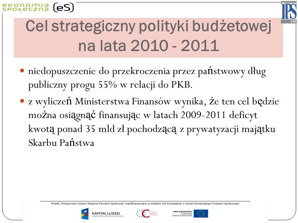 Cel strategiczny polityki budżetowej na lata 2010 - 2011