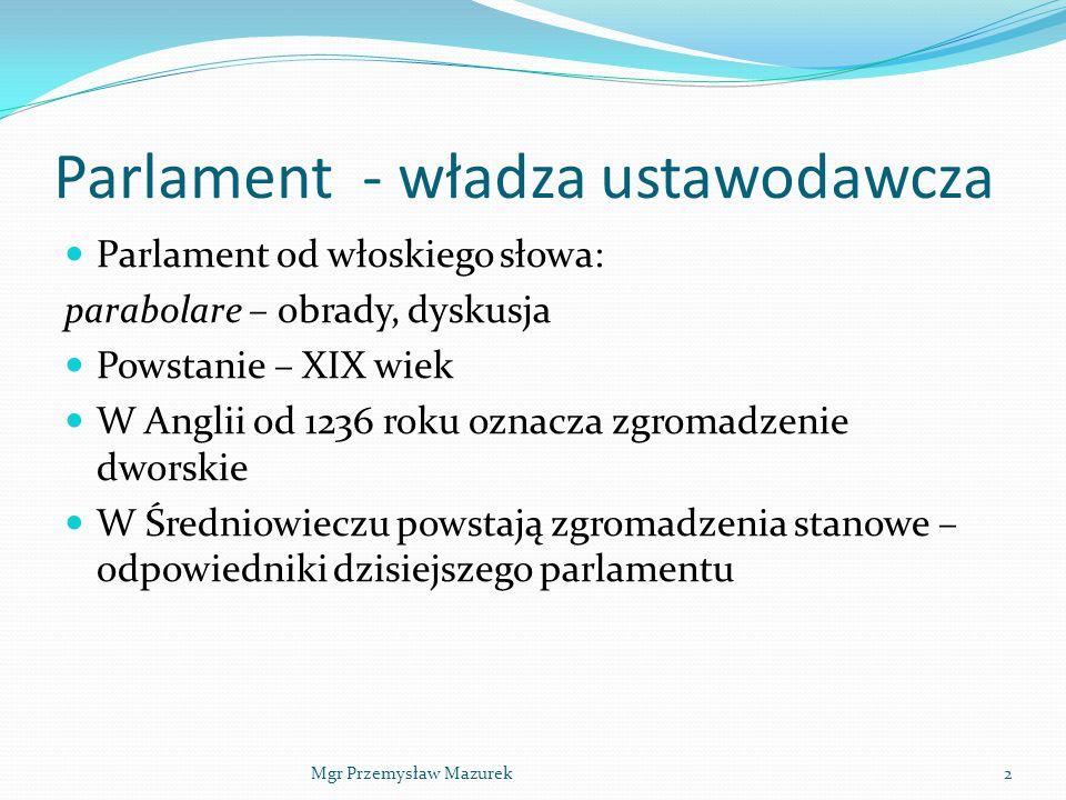 Parlament - władza ustawodawcza