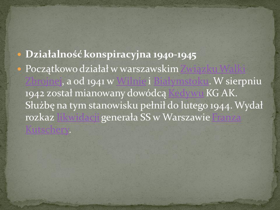 Działalność konspiracyjna 1940-1945