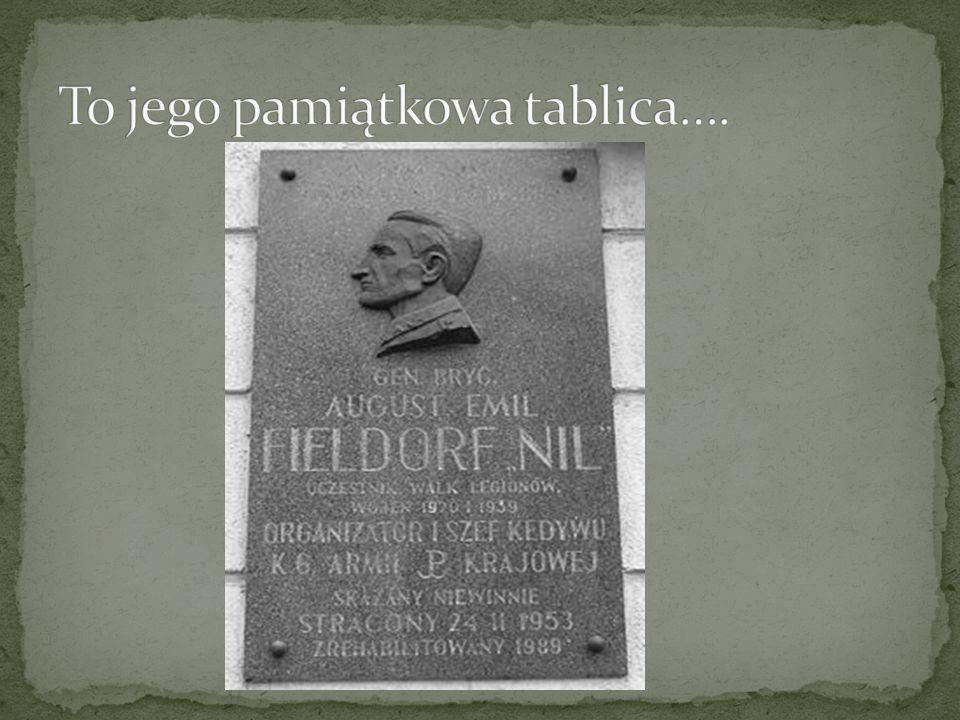 To jego pamiątkowa tablica….