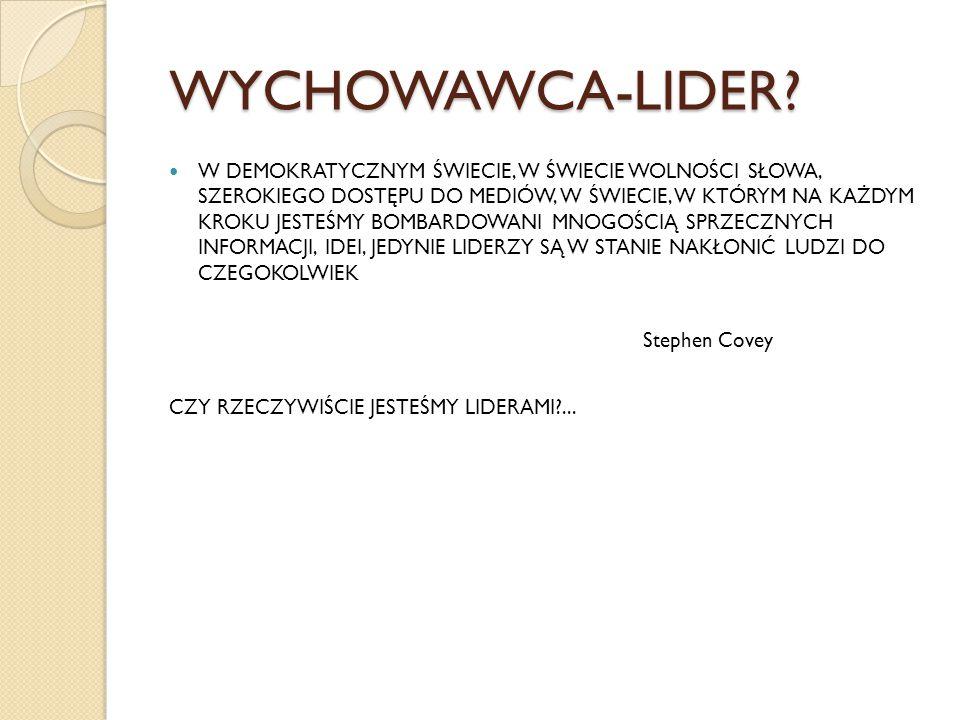 WYCHOWAWCA-LIDER