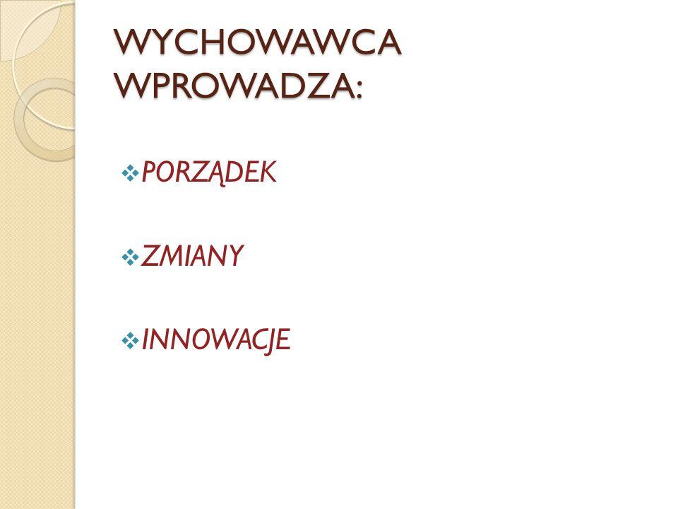 WYCHOWAWCA WPROWADZA: