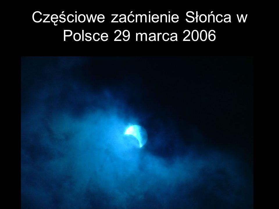 Częściowe zaćmienie Słońca w Polsce 29 marca 2006