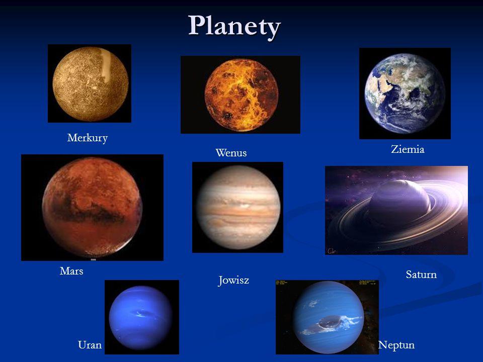 Planety Merkury Ziemia Wenus Mars Saturn Jowisz Uran Neptun