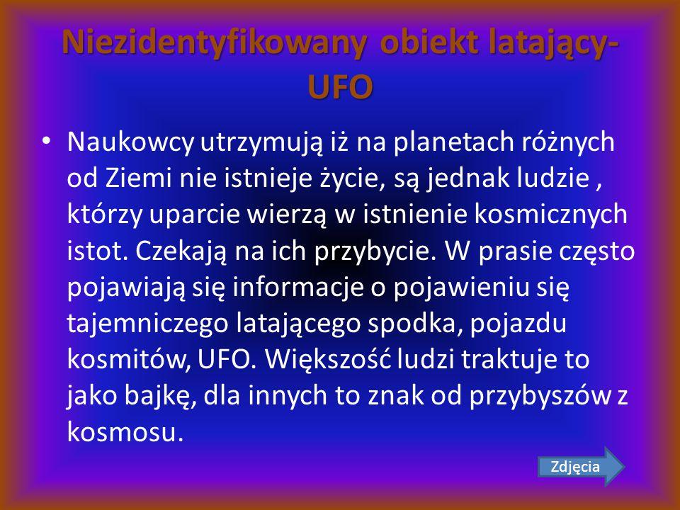 Niezidentyfikowany obiekt latający-UFO