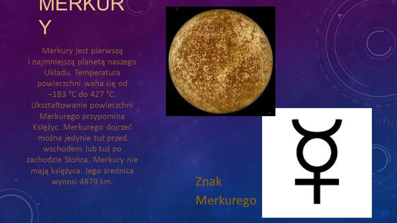 MERKURY Znak Merkurego