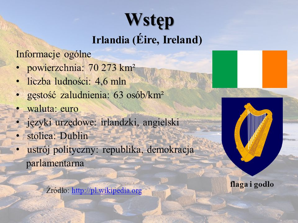 Irlandia (Éire, Ireland)