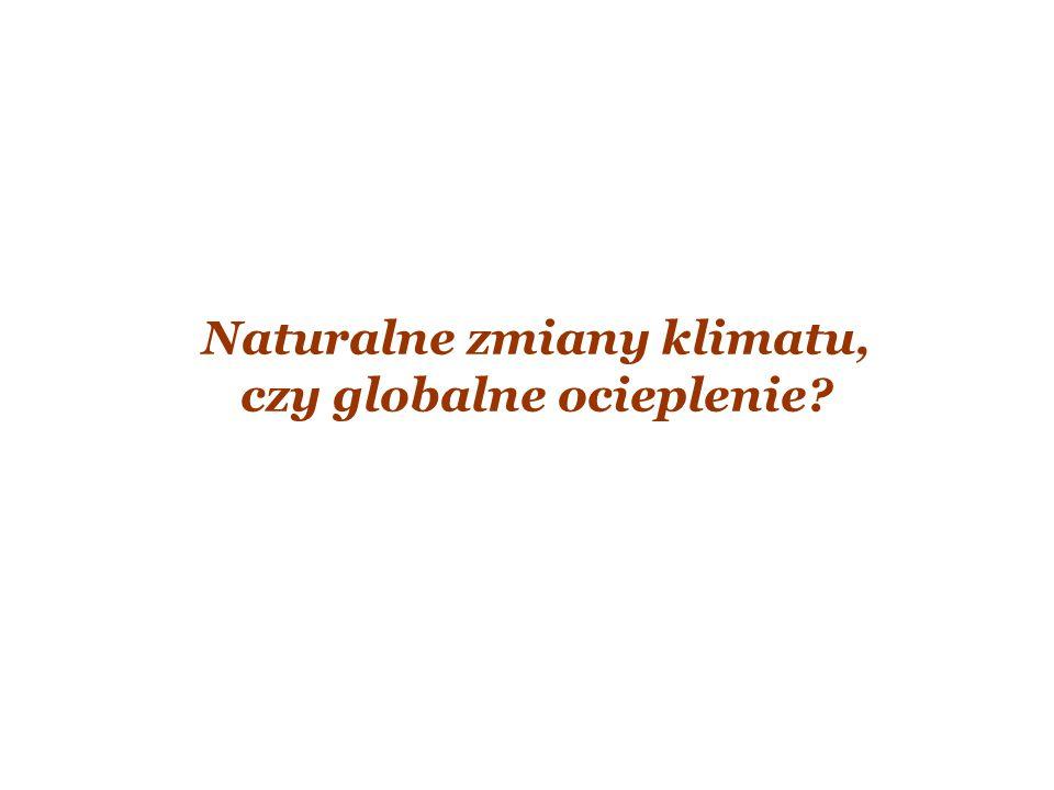 Naturalne zmiany klimatu, czy globalne ocieplenie