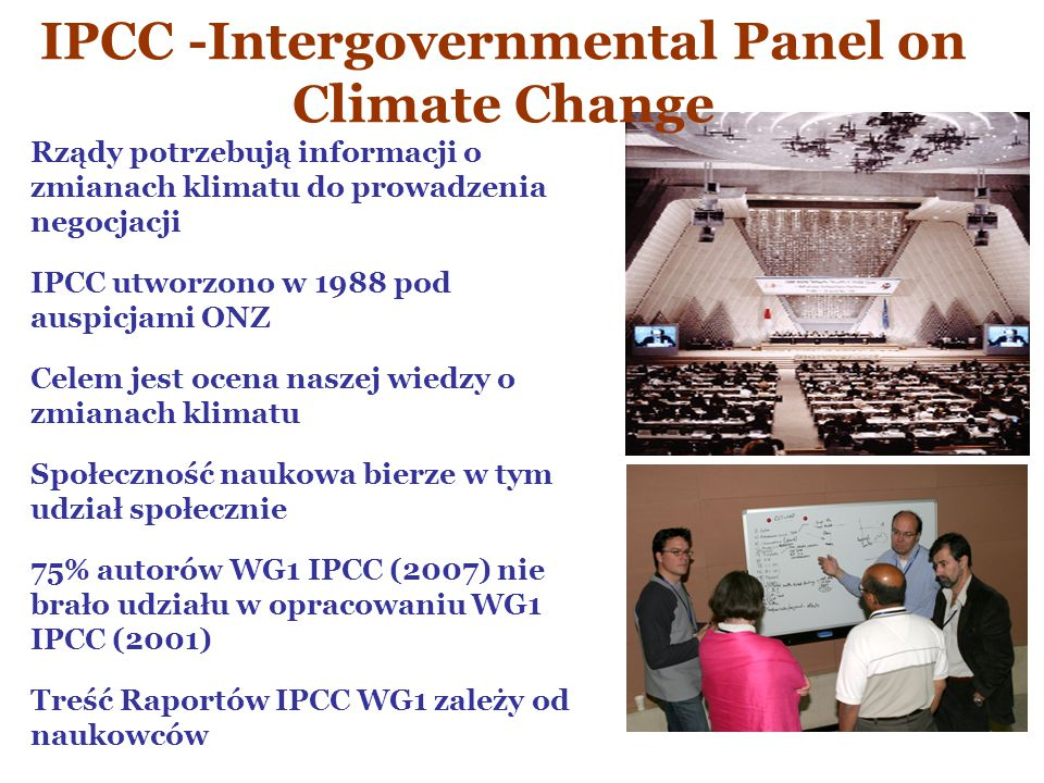 IPCC -Intergovernmental Panel on Climate Change