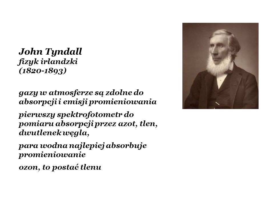 John Tyndall fizyk irlandzki (1820-1893)