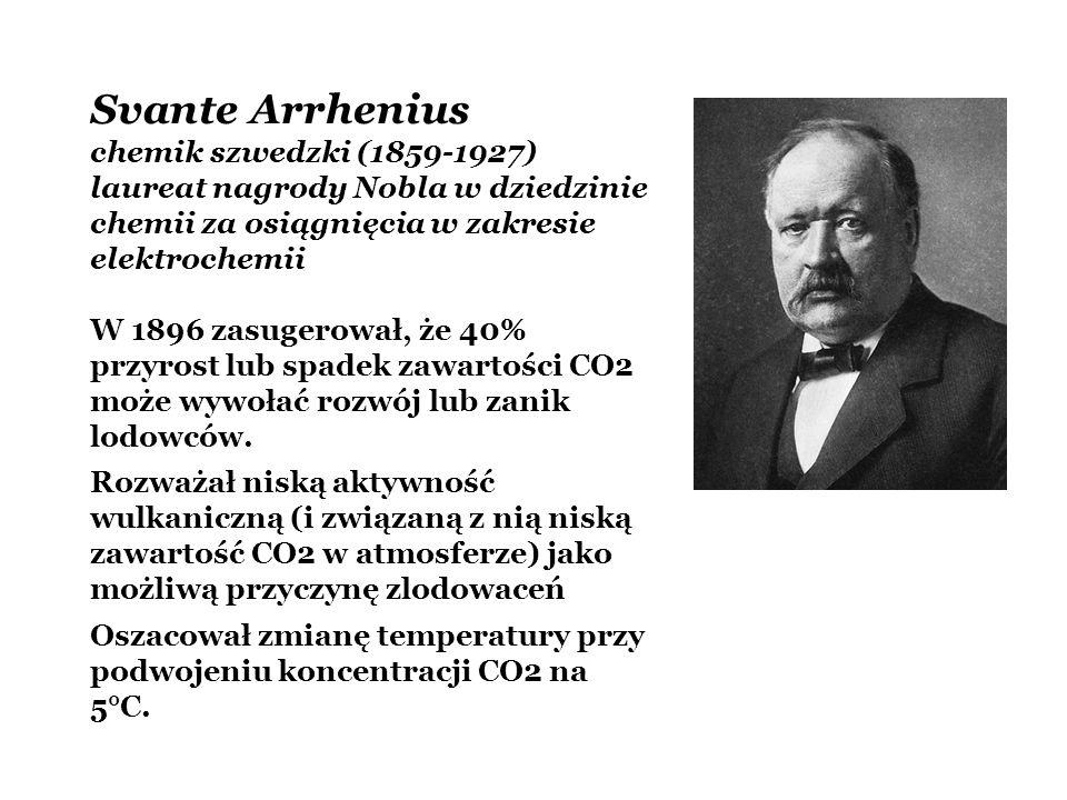 Svante Arrhenius chemik szwedzki (1859-1927)
