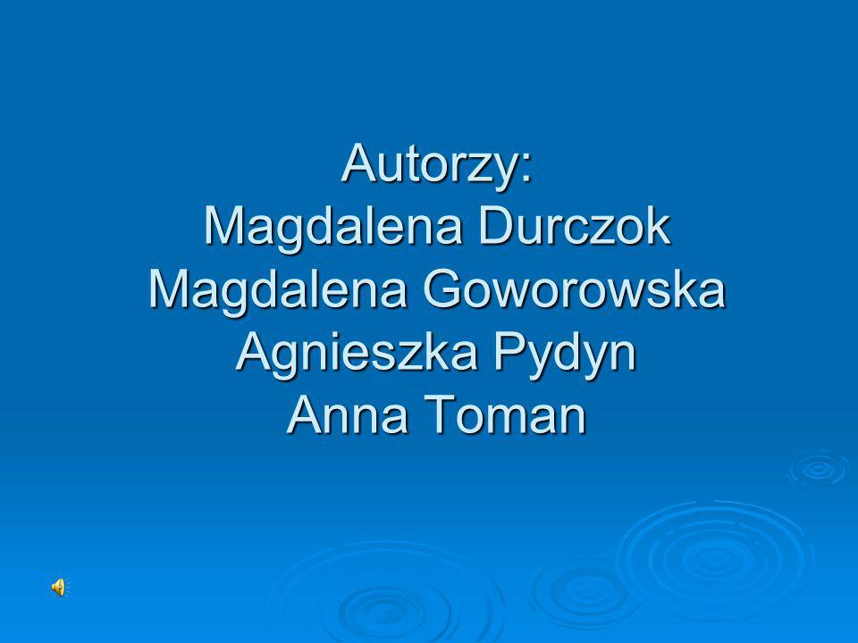 Autorzy: Magdalena Durczok Magdalena Goworowska Agnieszka Pydyn Anna Toman
