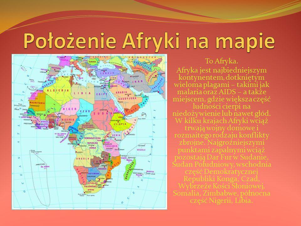 Położenie Afryki na mapie