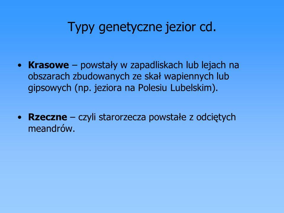 Typy genetyczne jezior cd.