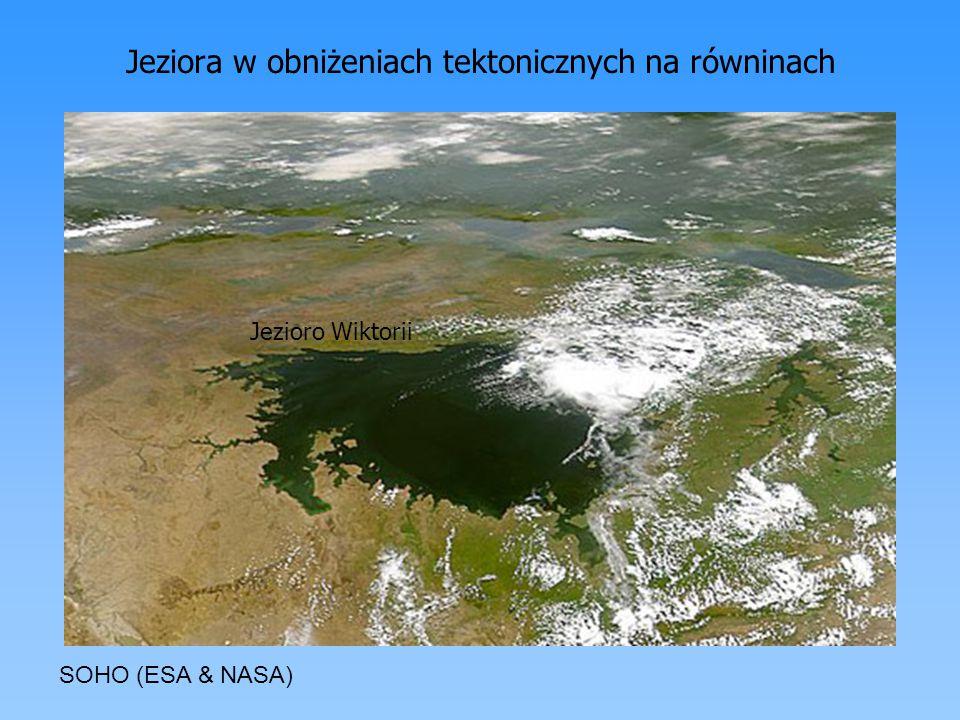 Jeziora w obniżeniach tektonicznych na równinach