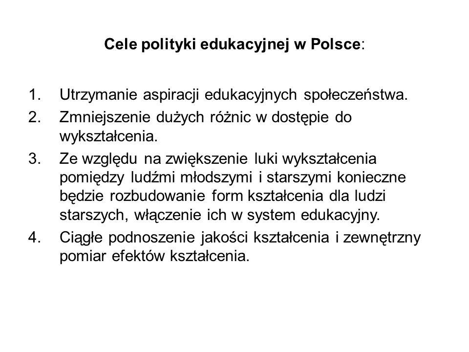 Cele polityki edukacyjnej w Polsce: