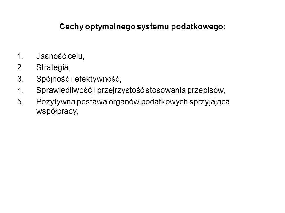 Cechy optymalnego systemu podatkowego: