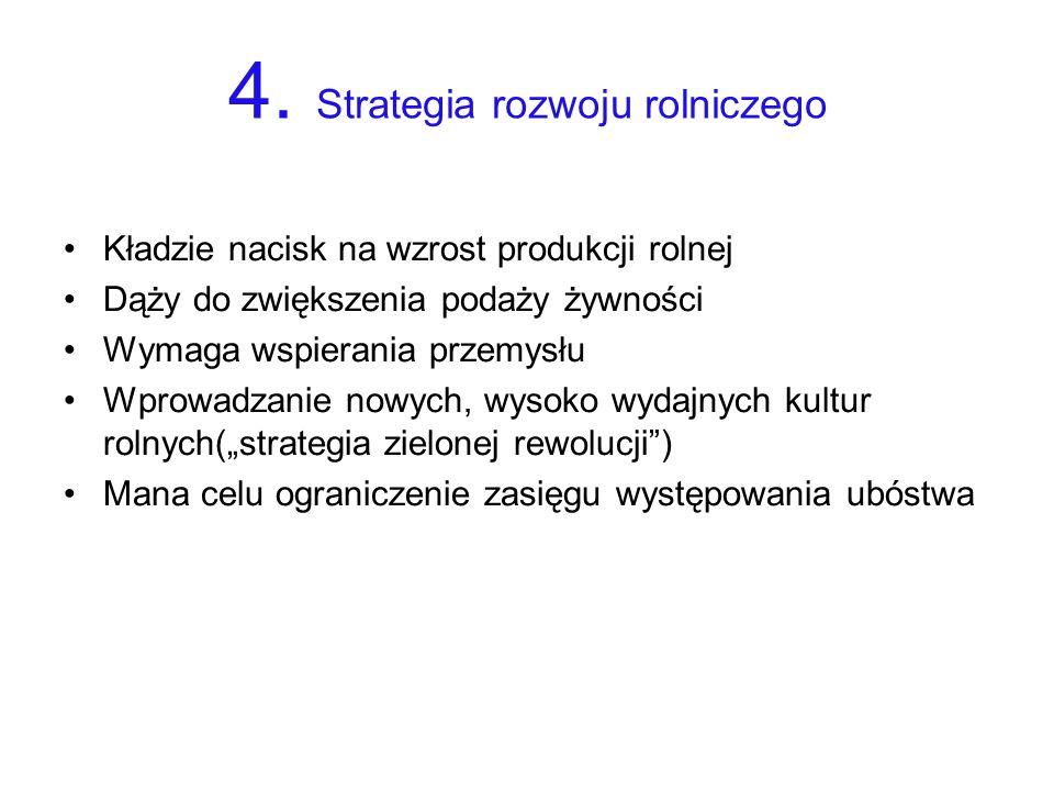 4. Strategia rozwoju rolniczego