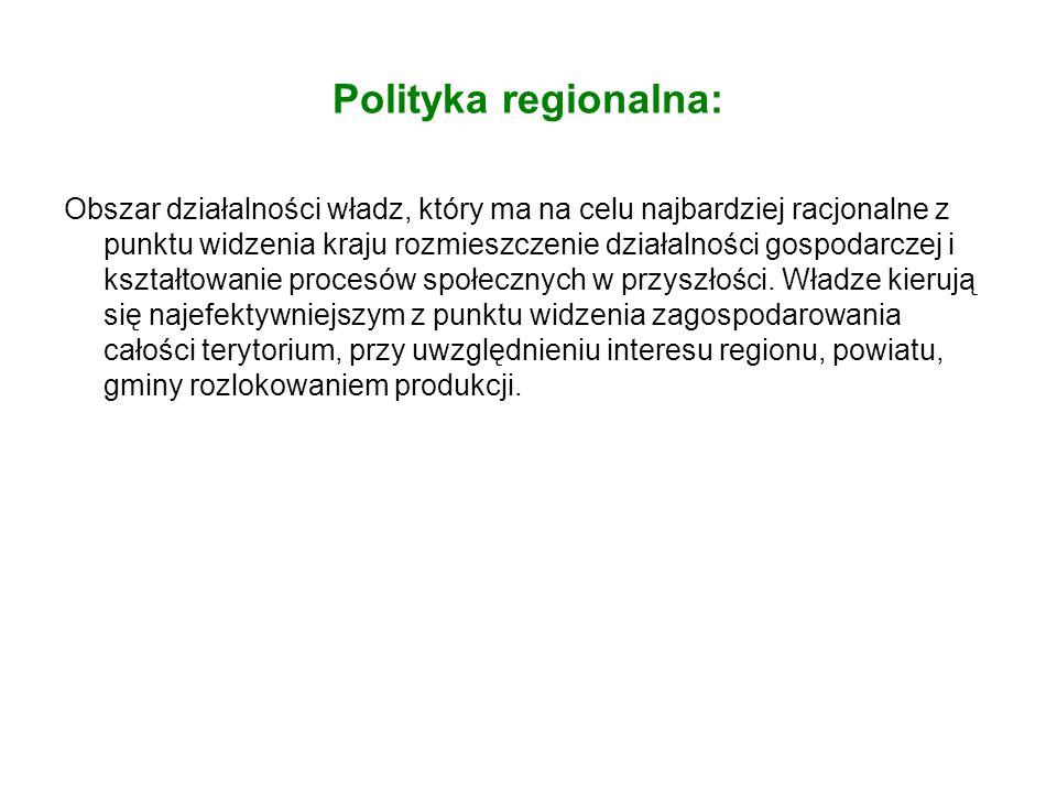 Polityka regionalna:
