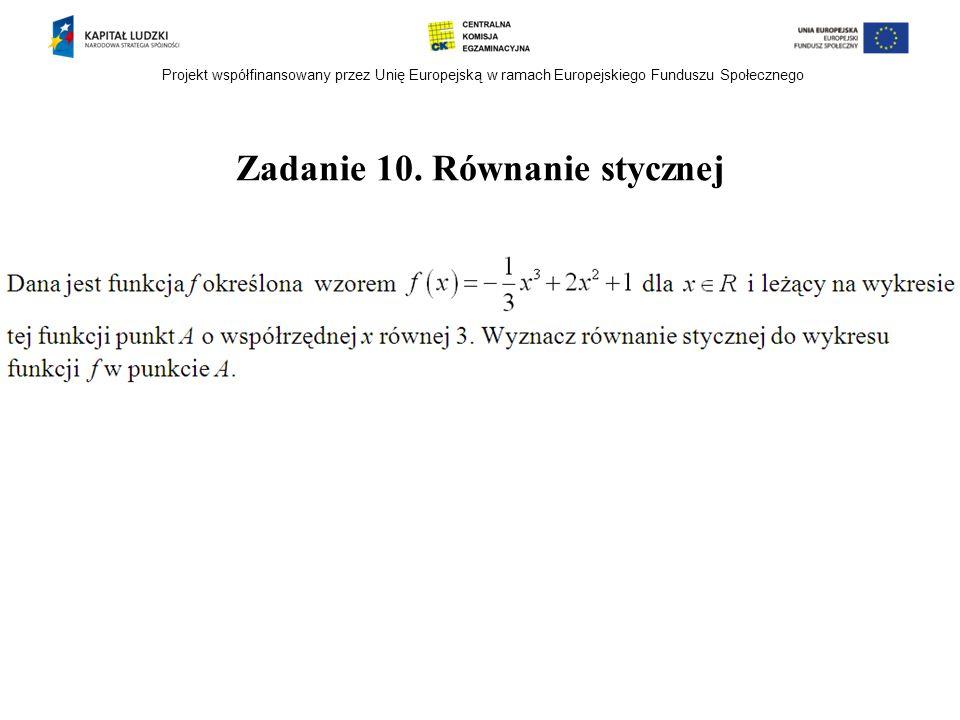 Zadanie 10. Równanie stycznej