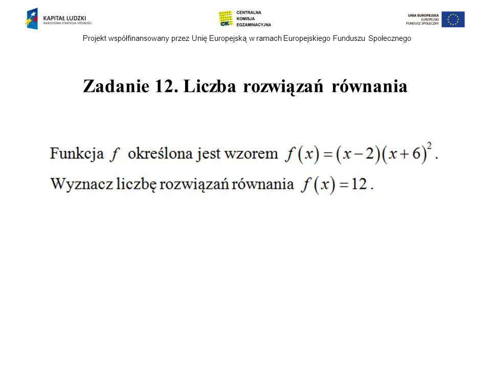 Zadanie 12. Liczba rozwiązań równania