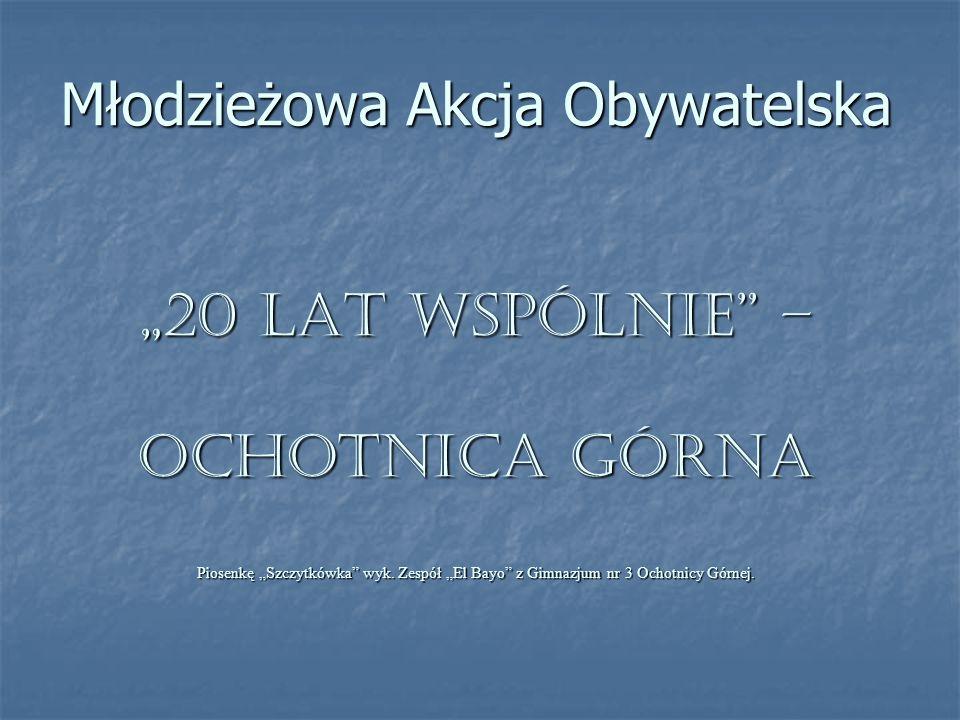 """Młodzieżowa Akcja Obywatelska """"20 LAT WSPÓLNIE – Ochotnica Górna Piosenkę """"Szczytkówka wyk."""