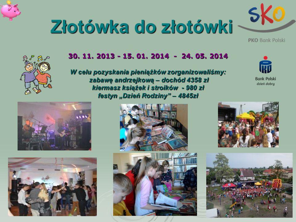 Złotówka do złotówki 30. 11. 2013 - 15. 01. 2014 - 24. 05. 2014