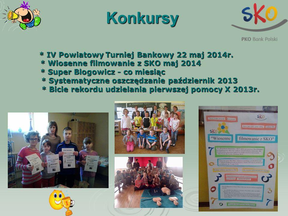 Konkursy * IV Powiatowy Turniej Bankowy 22 maj 2014r.
