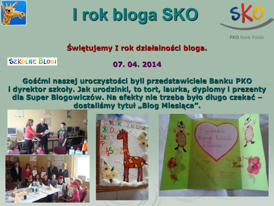 Świętujemy I rok działalności bloga.