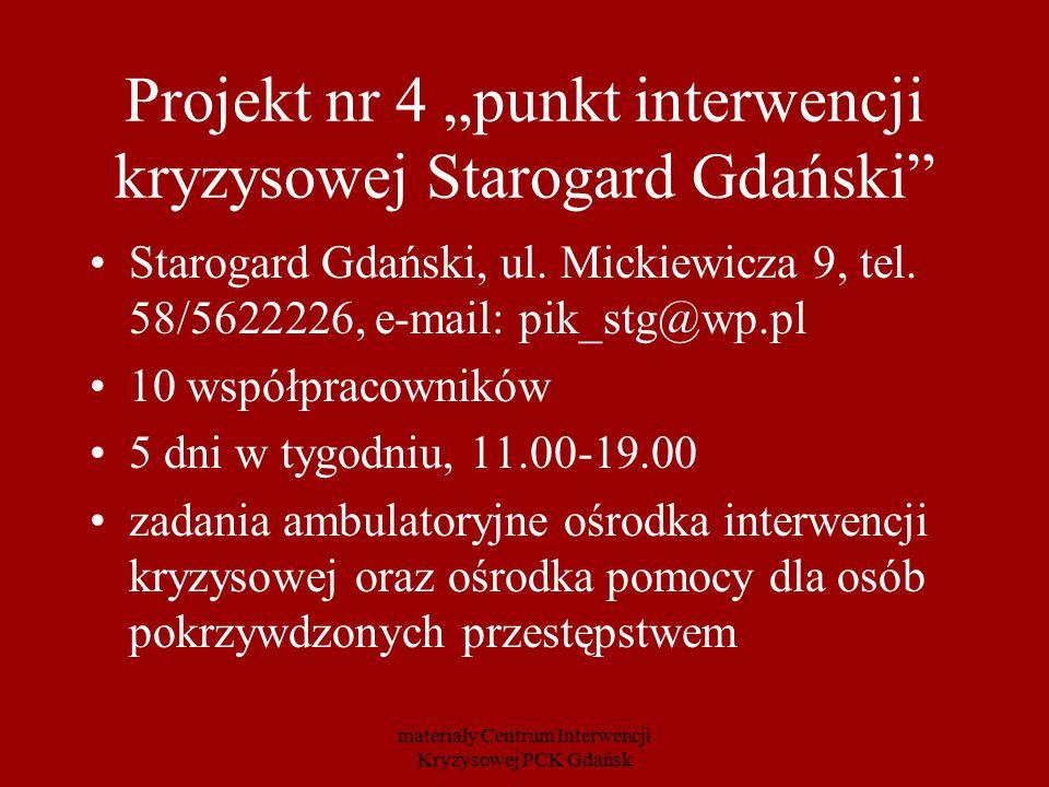 """Projekt nr 4 """"punkt interwencji kryzysowej Starogard Gdański"""