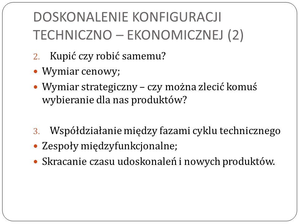 DOSKONALENIE KONFIGURACJI TECHNICZNO – EKONOMICZNEJ (2)