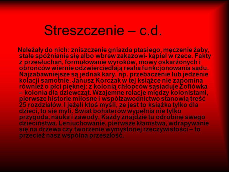 Streszczenie – c.d.
