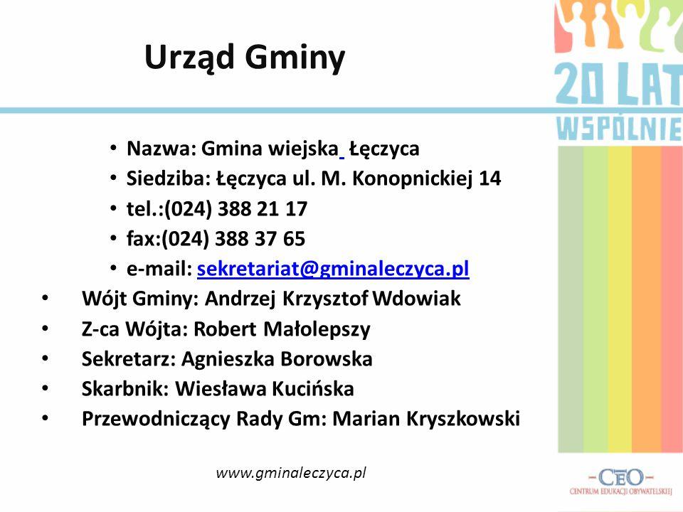 Urząd Gminy Nazwa: Gmina wiejska Łęczyca
