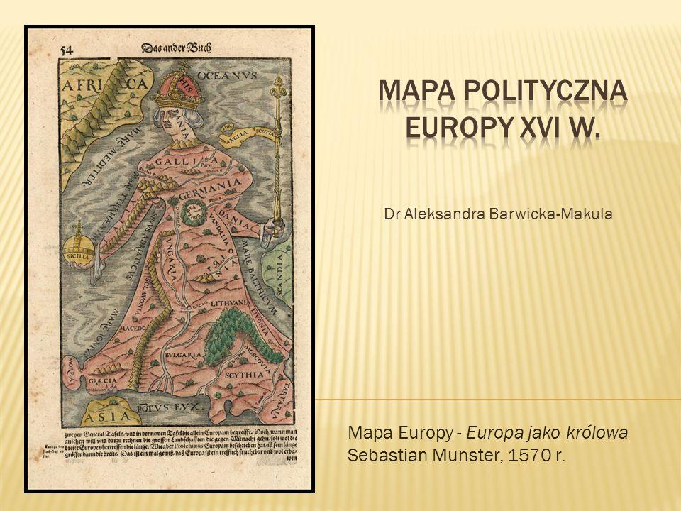 Mapa polityczna europy Xvi w.