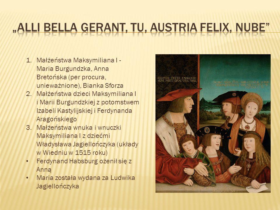 """Alli Bella gerant, tu, Austria felix, nube"