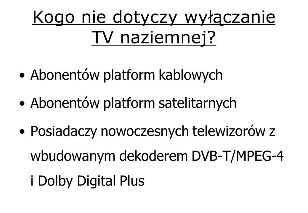 Kogo nie dotyczy wyłączanie TV naziemnej