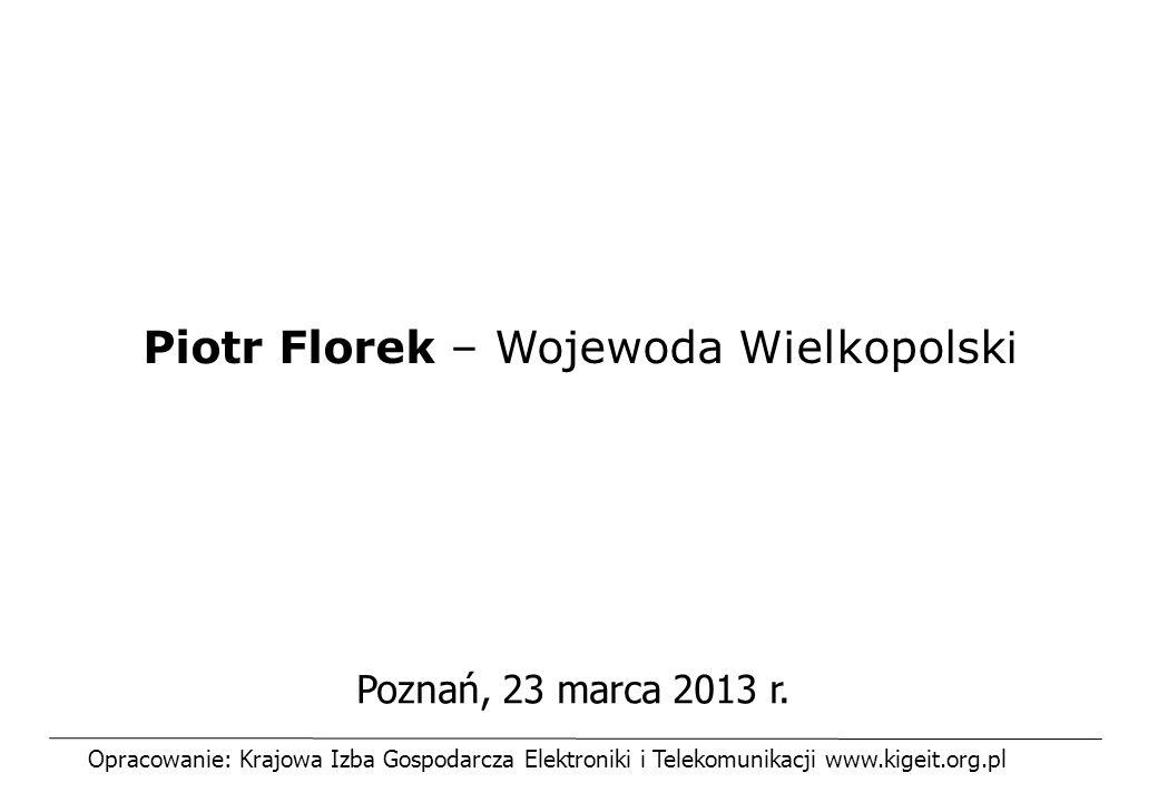 Piotr Florek – Wojewoda Wielkopolski