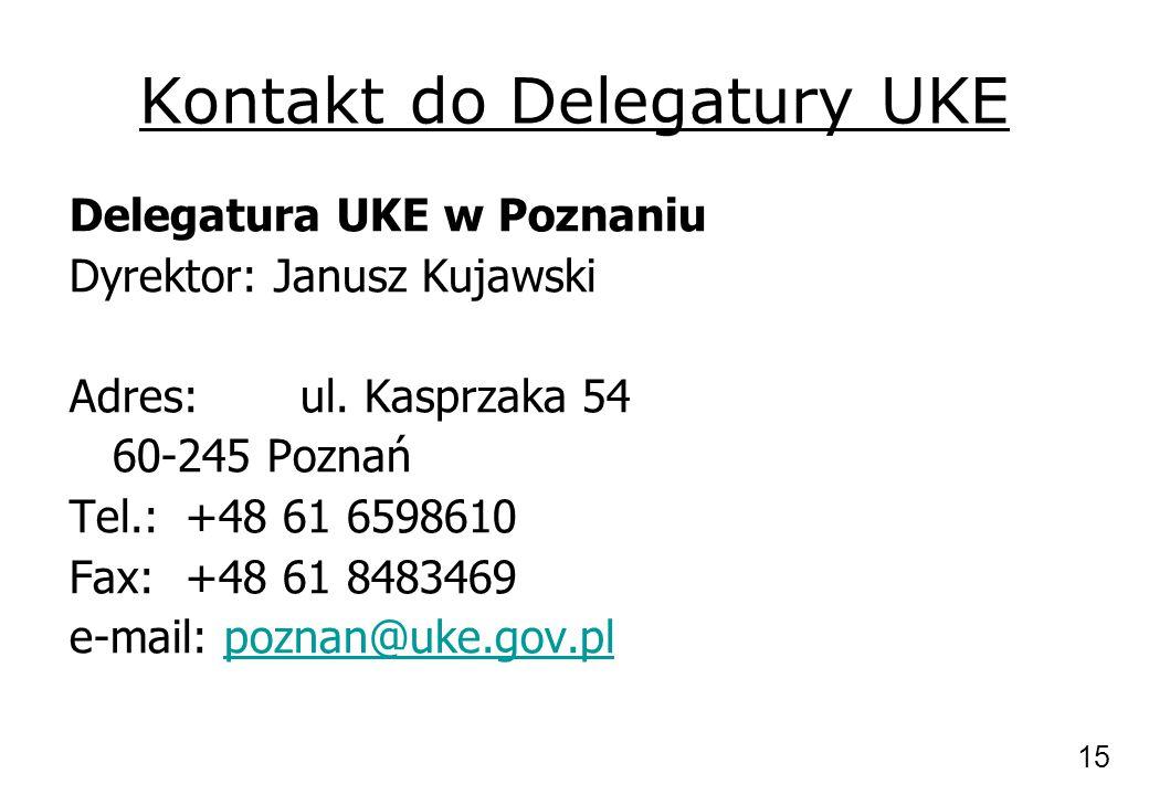 Kontakt do Delegatury UKE