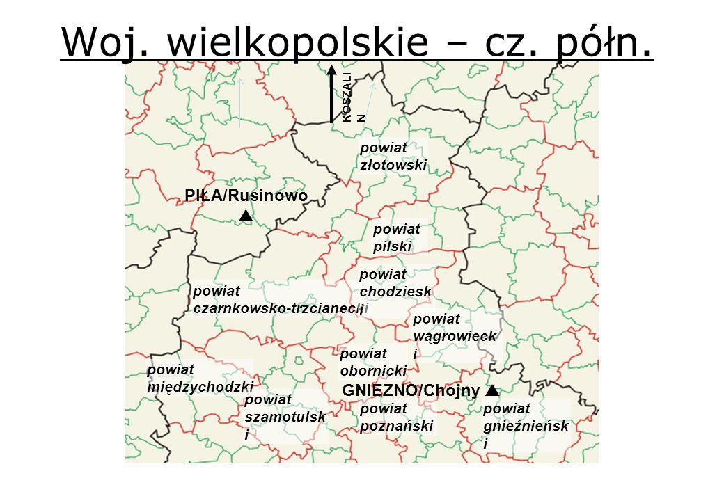 Woj. wielkopolskie – cz. półn.