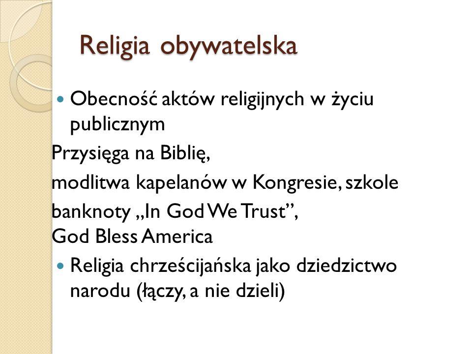 Religia obywatelska Obecność aktów religijnych w życiu publicznym