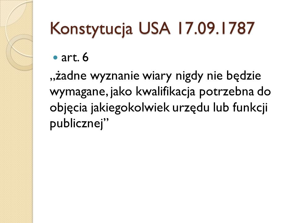 Konstytucja USA 17.09.1787 art. 6.