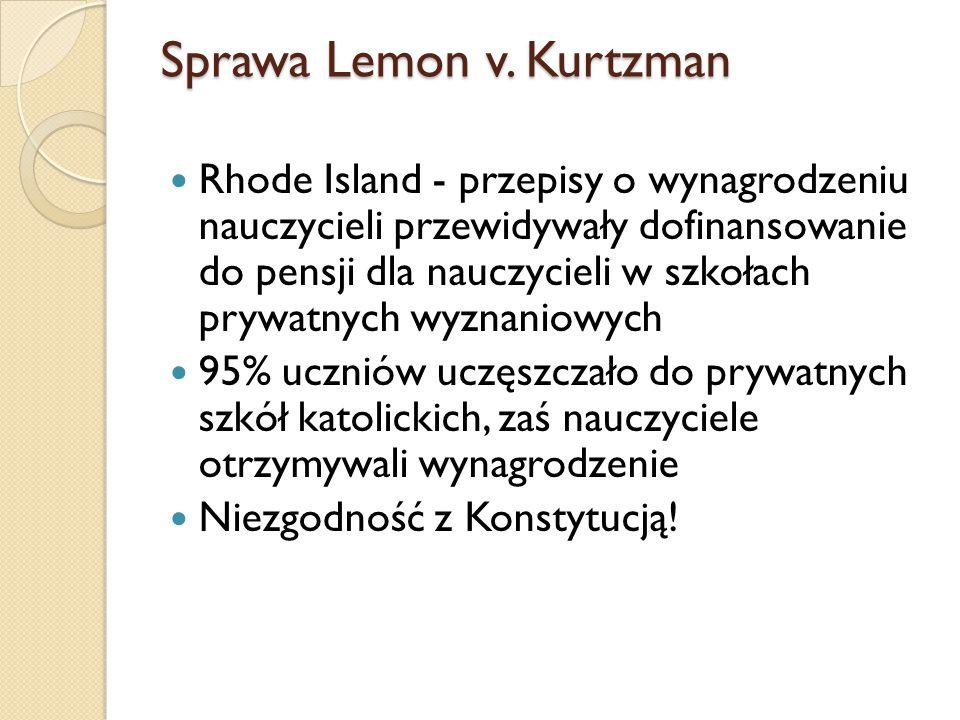 Sprawa Lemon v. Kurtzman