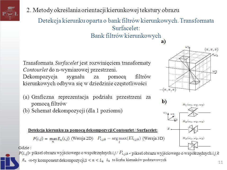 2. Metody określania orientacji kierunkowej tekstury obrazu