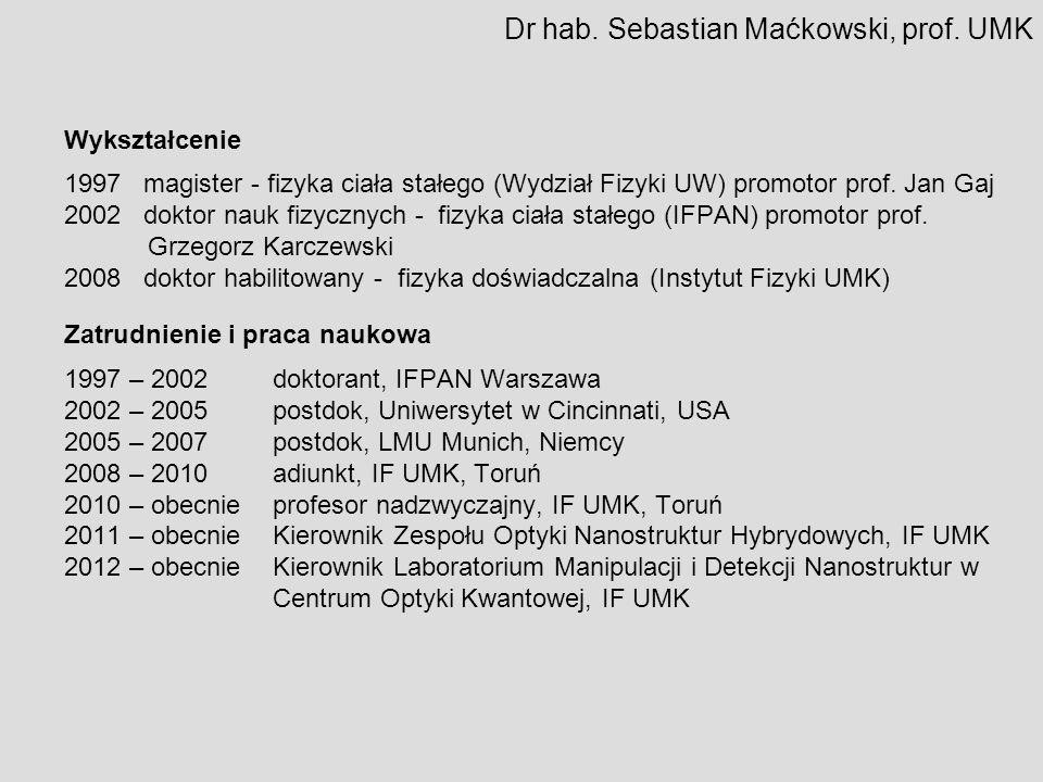 Dr hab. Sebastian Maćkowski, prof. UMK