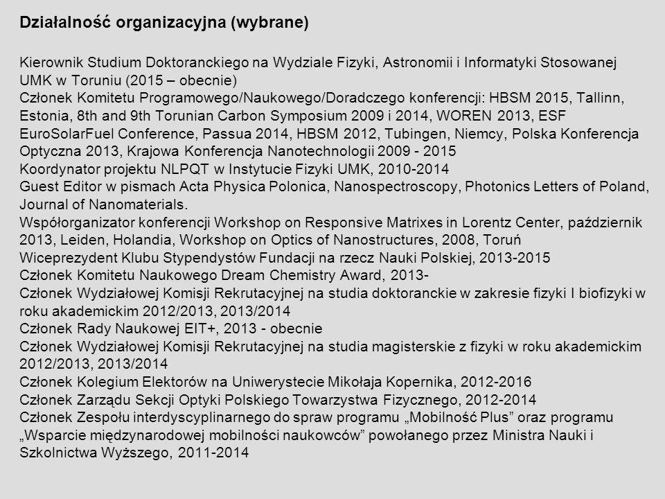 Działalność organizacyjna (wybrane)